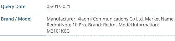 El Xiaomi Redmi Note 10 Pro se certifica, características, fecha, precio. Noticias Xiaomi Adictos