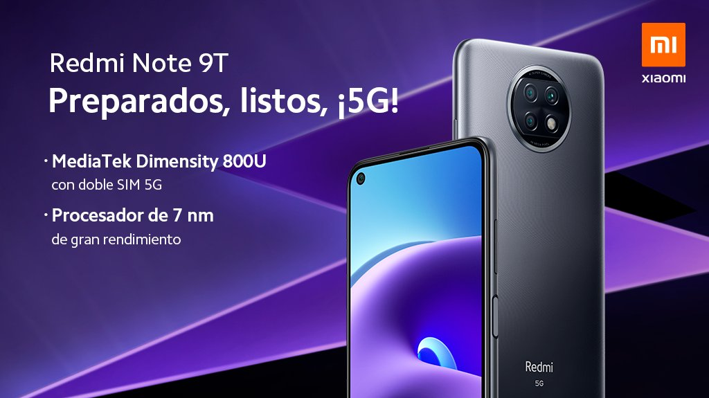 The Xiaomi Redmi Note 9T arrives in Spain and does so with an interesting offer