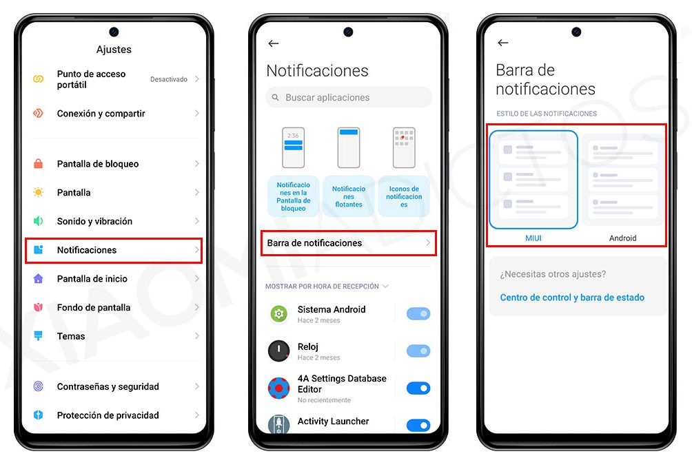 This is how you can change the style of your Xiaomi notifications
