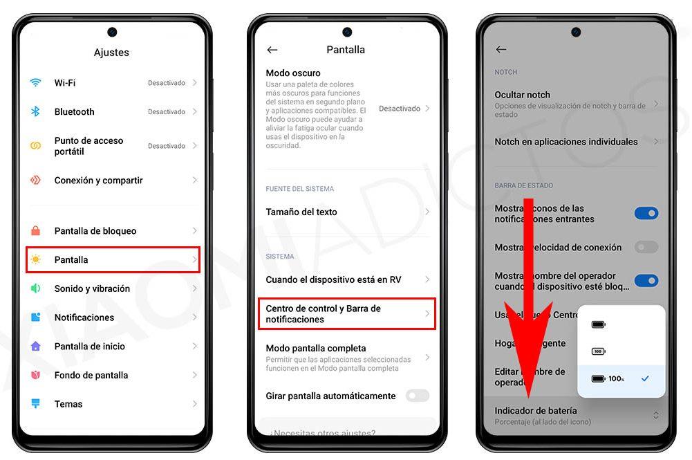 Cómo cambiar el icono de batería de tu Xiaomi. Noticias Xiaomi Adictos
