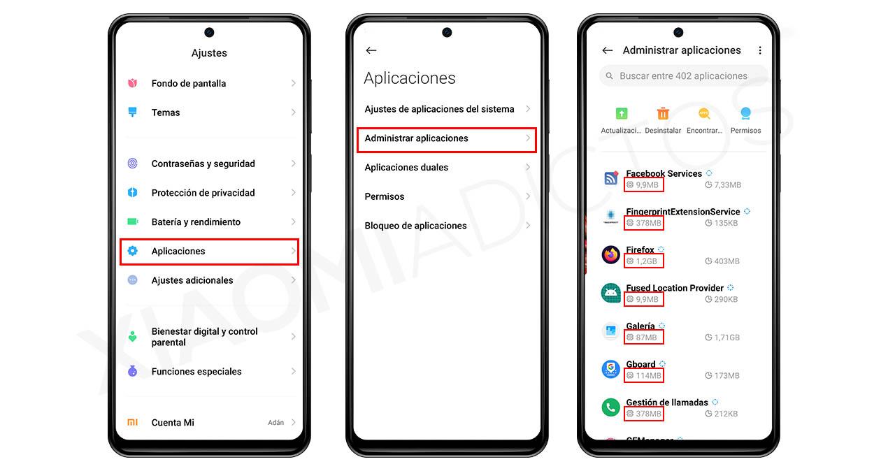 ver RAM consumo aplicaciones. Noticias Xiaomi Adictos