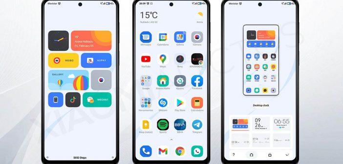 Este tema le dará un toque más fresco a tu Xiaomi y lo llenará de widgets. Noticias Xiaomi Adictos