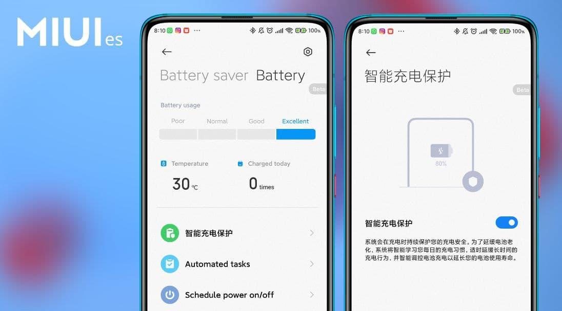 Xiaomi añade un nuevo sistema de protección de carga inteligente en MIUI 12.5. Noticias Xiaomi Adictos