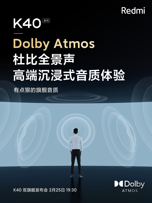 La Serie Redmi K40 no escatimará en gastos y también contará con sonido Dolby Atmos. Noticias Xiaomi Adictos