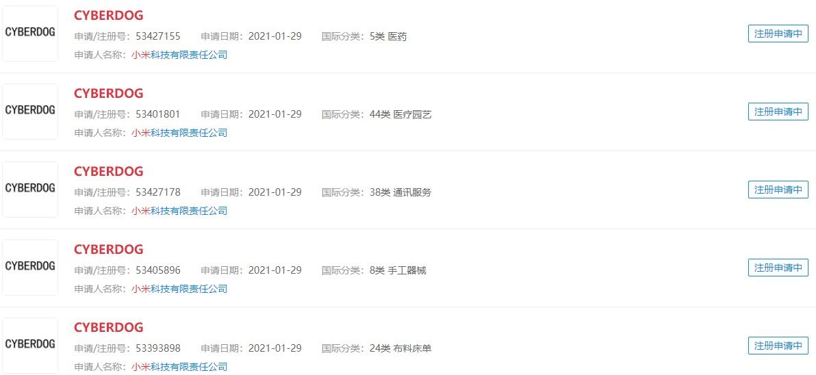 """Xiaomi registra la marca """"CyberDog"""" pensada en la venta de publicidad. Noticias Xiaomi Adictos"""