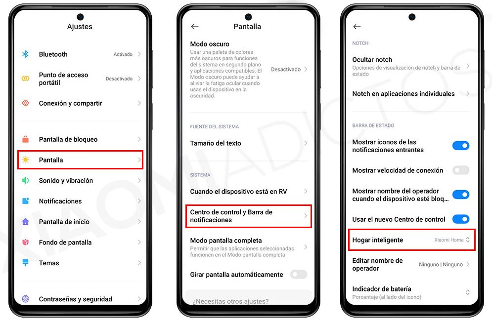 Cómo añadir Xiaomi Home al Centro de Control de MIUI. Noticias Xiaomi Adictos