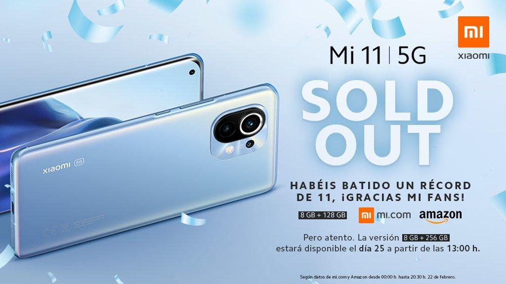 El Xiaomi Mi 11 consigue agotar todas sus unidades en su primer día a la venta. Noticias Xiaomi Adictos