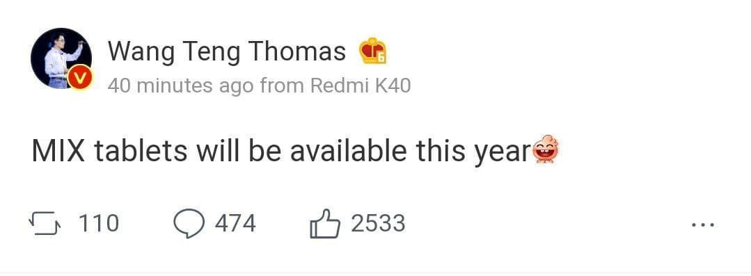 La Serie Mi Mix de Xiaomi regresará este año y lo hará en formato tablet. Noticias Xiaomi Adictos