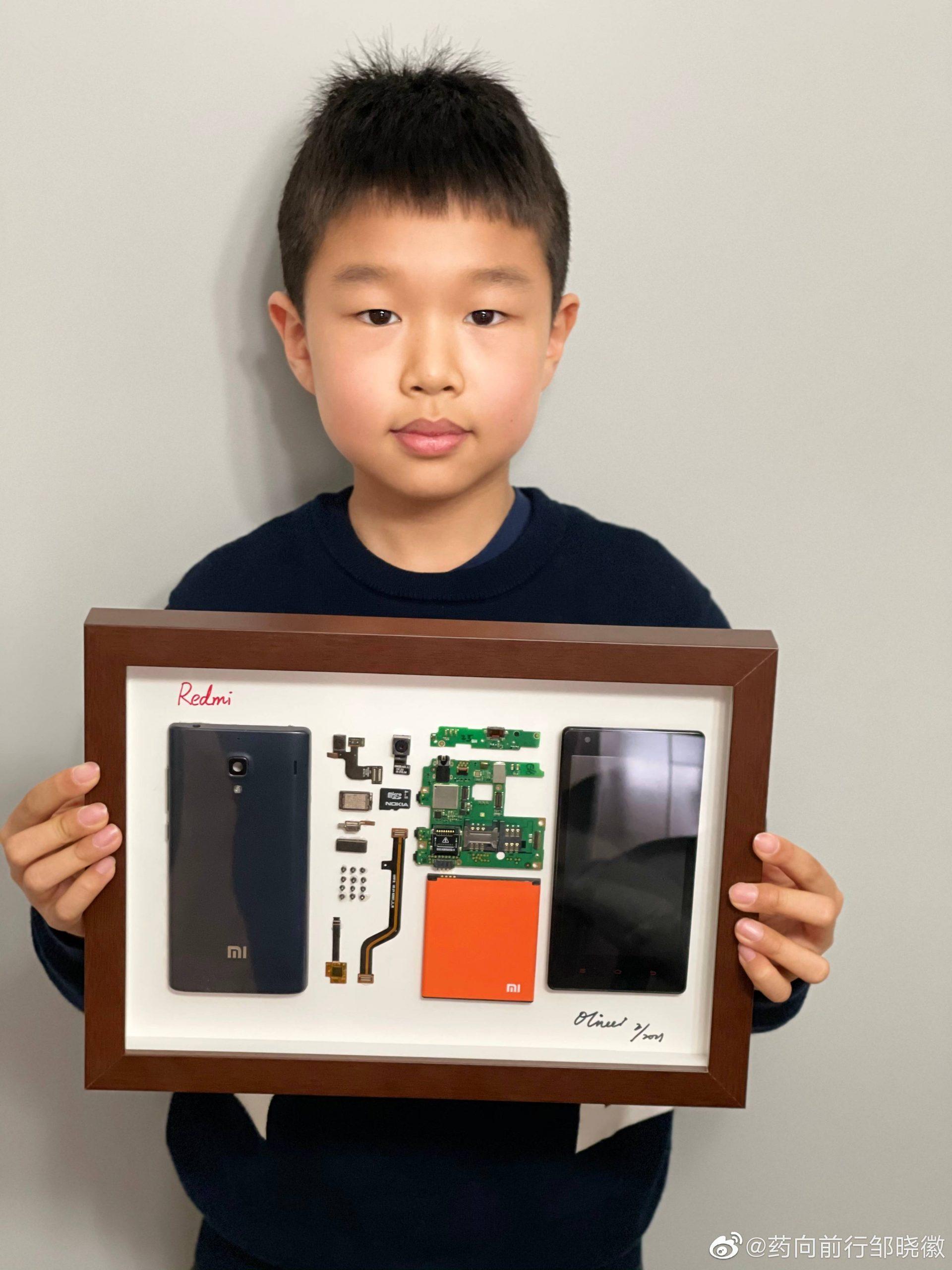 Un niño de apenas 9 años convierte su primer Xiaomi en toda una obra de arte. Noticias Xiaomi Adictos