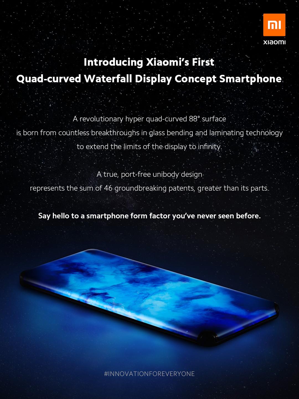 Xiaomi anuncia su impresionante smartphone todo pantalla con tecnología Quad-Curved. Noticias Xiaomi Adictos