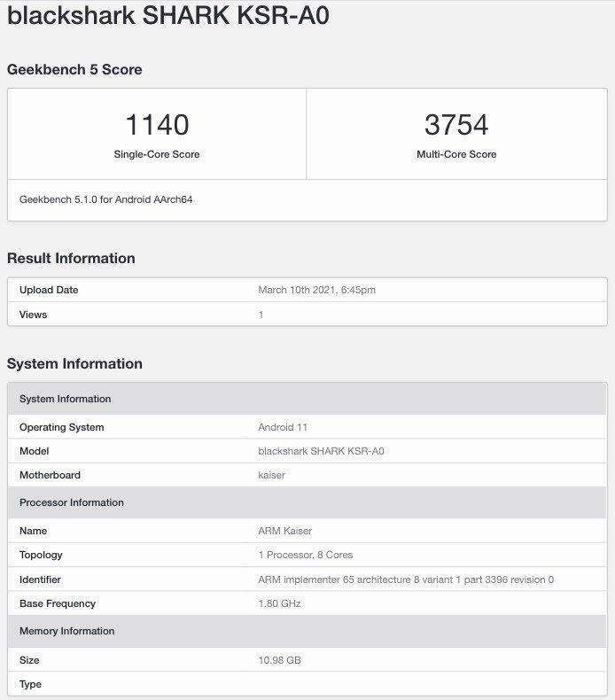 El Black Shark 4 Pro se deja ver en Geekbench junto a un rendimiento excepcional. Noticias Xiaomi Adictos