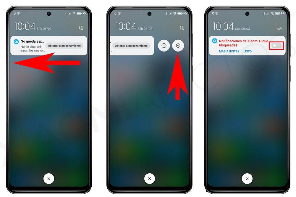 Cómo desactivar las molestas notificaciones de Xiaomi Cloud por falta de espacio. Noticias Xiaomi Adictos