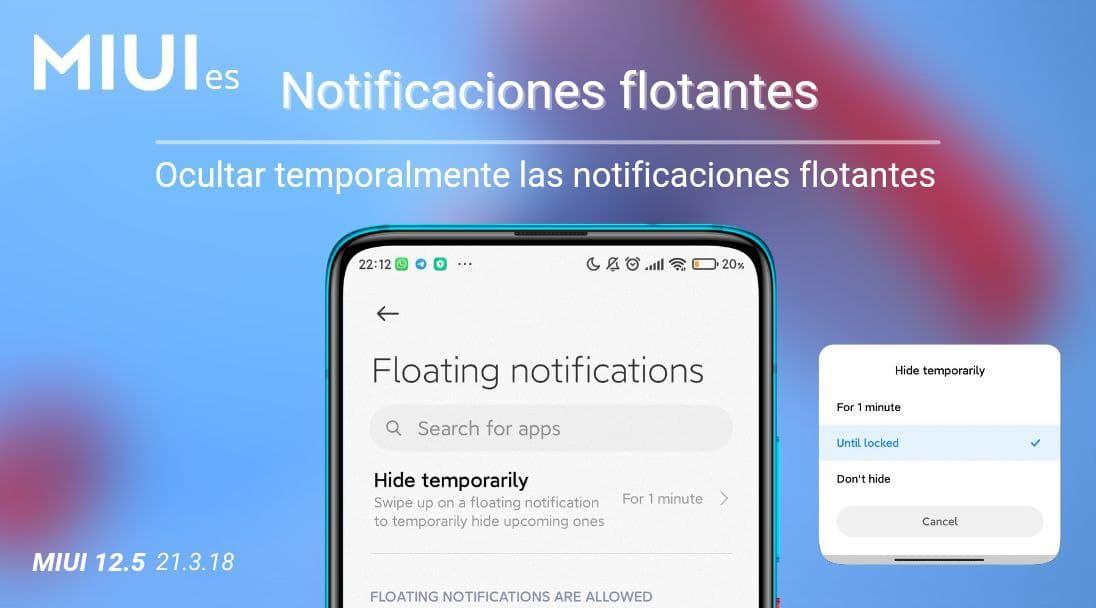 Xiaomi mejora las notificaciones flotantes con la opción que todos esperábamos. Noticias Xiaomi Adictos