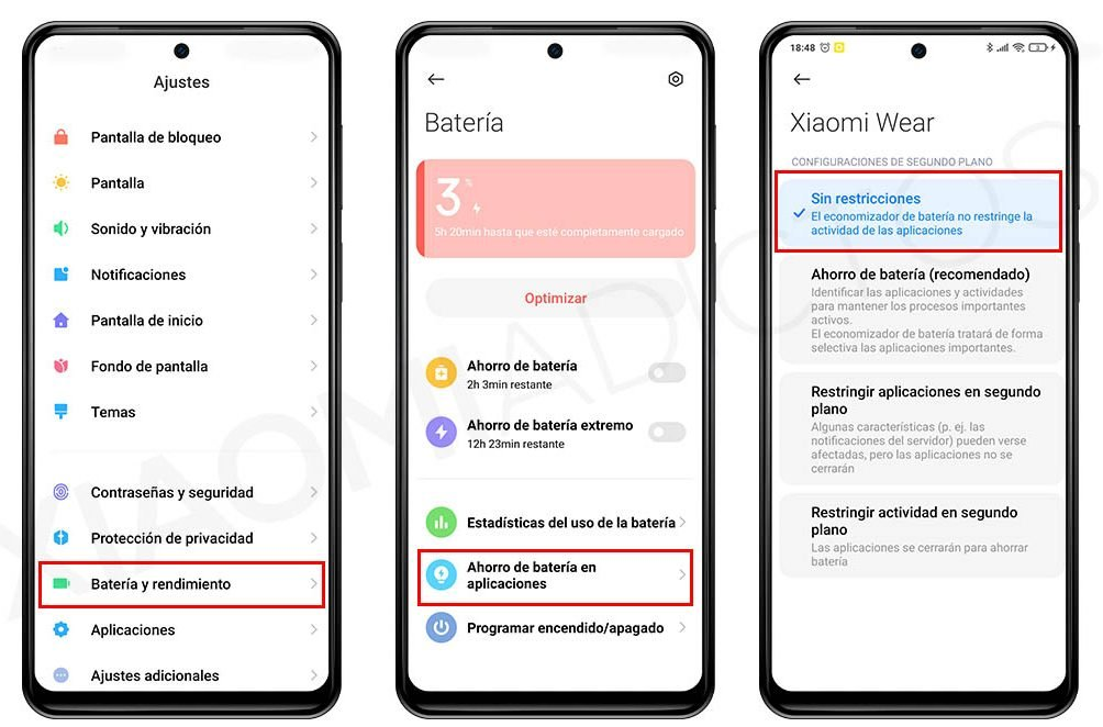 Soluciona los fallos en las notificaciones de los Xiaomi Mi Watch y Xiaomi Mi Band. Noticias Xiaomi Adictos