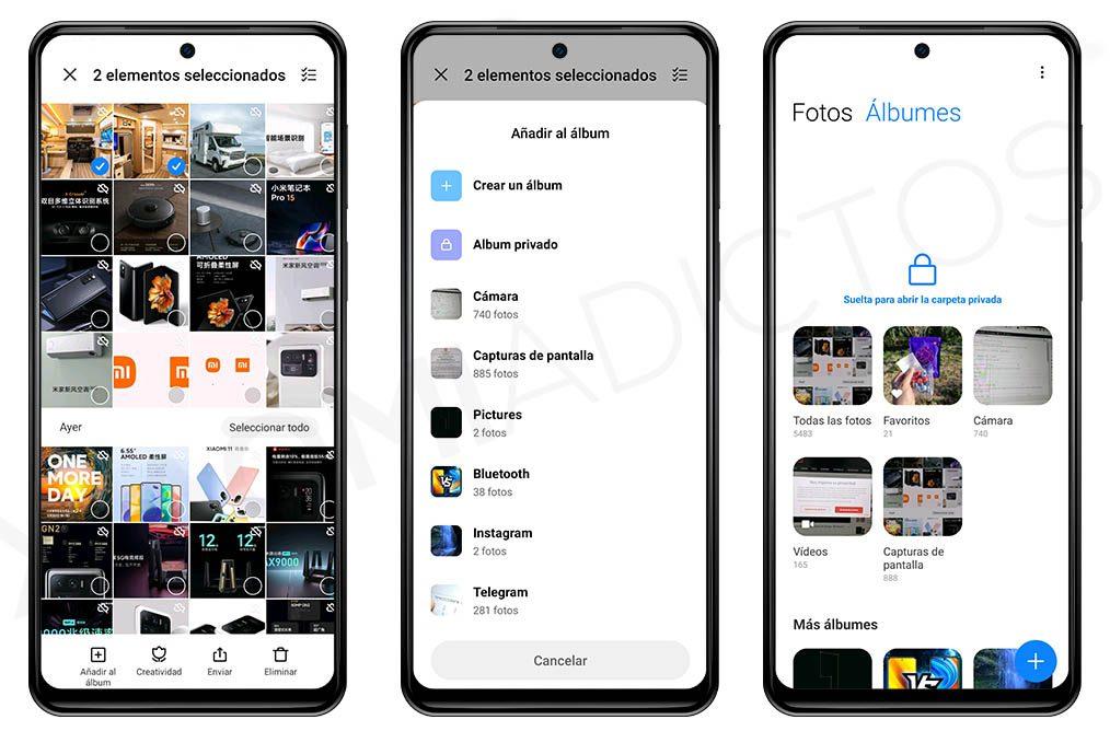 Cómo ocultar fotos y vídeos de la galería de tu Xiaomi. Noticias Xiaomi Adictos