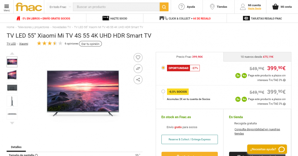 """Cae el precio de la mejor Xiaomi Mi TV de 55"""" pulgadas que puedes comprar. Noticias Xiaomi Adictos"""