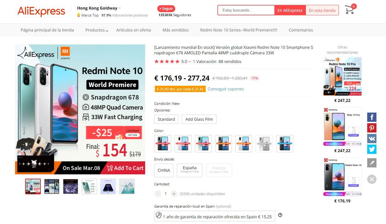 Dónde comprar los Redmi Note 10 y Note 10 Pro al mejor precio. Noticias Xiaomi Adictos