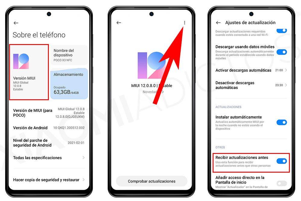 Activando esta opción en tu Xiaomi recibirás antes las actualizaciones y MIUI 12.5. Noticias Xiaomi Adictos