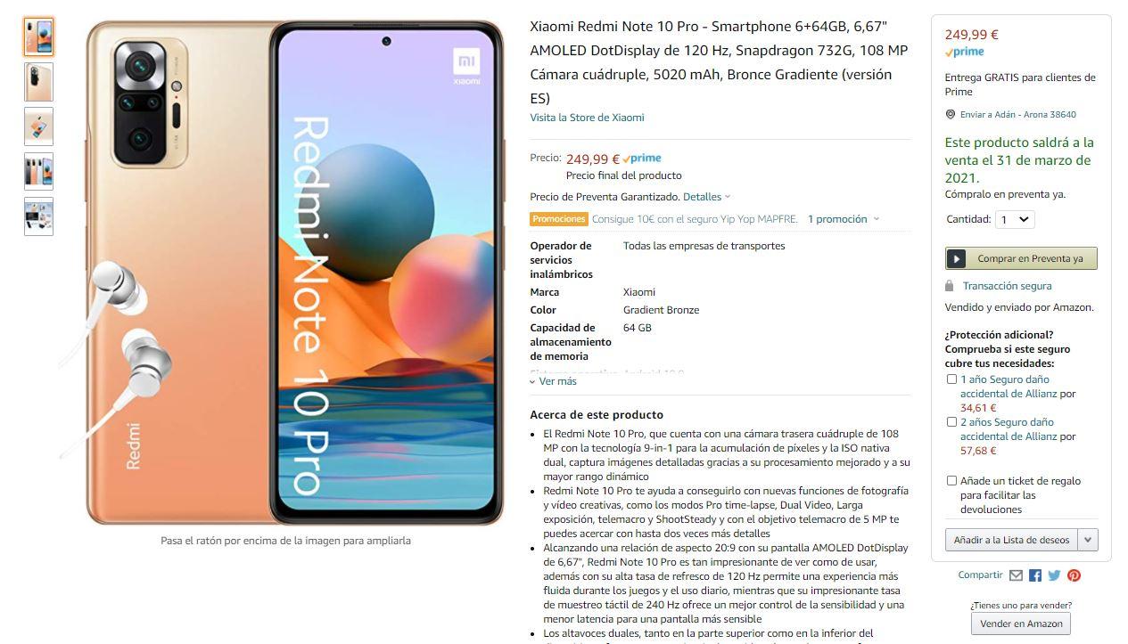 Ya puedes comprar los nuevos Redmi Note 10 y Note 10 Pro en Amazon. Noticias Xiaomi Adictos