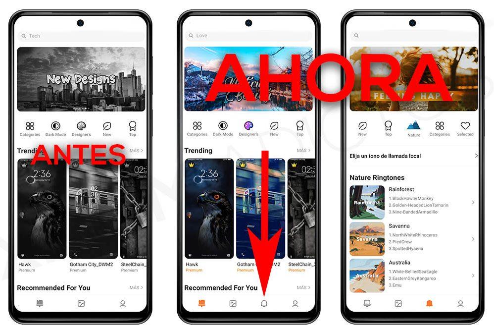 Xiaomi actualiza su aplicación Temas con multitud de tonos de llamada y notificaciones. Noticias Xiaomi Adictos