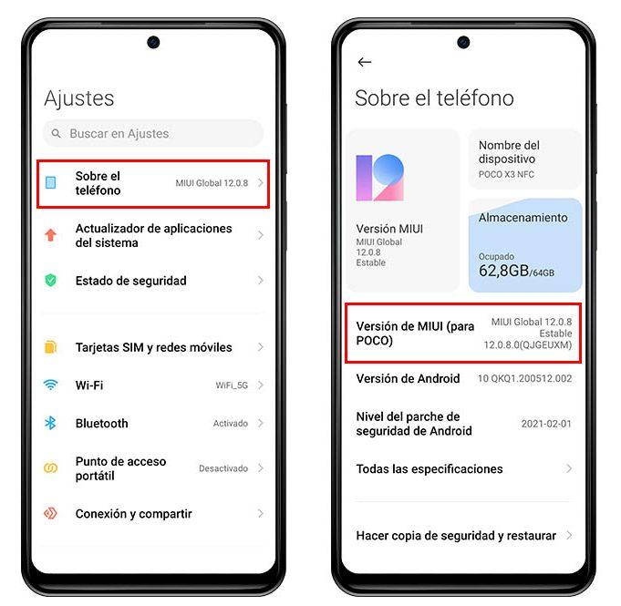Cómo saber la versión de MIUI y Android que tienes instalada en tu Xiaomi. Noticias Xiaomi Adictos