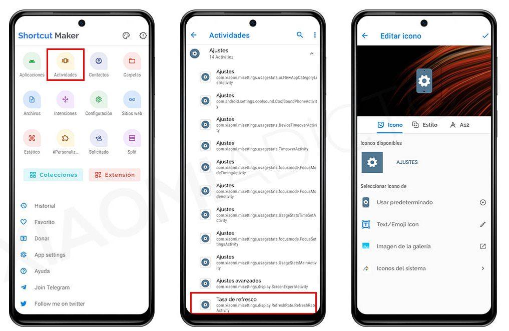 Así puedes crear accesos directos en tu Xiaomi de casi cualquier ajuste de MIUI. Noticias Xiaomi Adictos