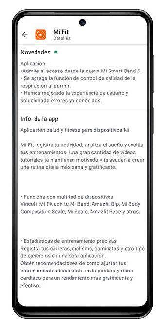 Mi Fit se actualiza con nuevas funcionalidades y soporte para la Xiaomi Mi Band 6. Noticias Xiaomi Adictos