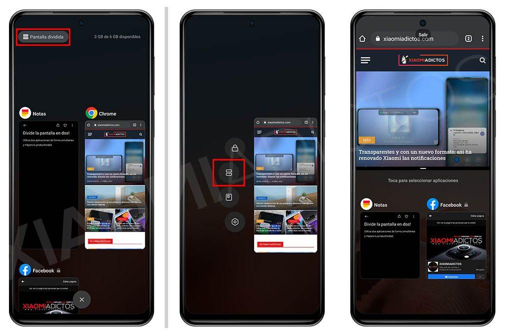 Cómo dividir la pantalla de tu Xiaomi en dos para utilizar varias aplicaciones. Noticias Xiaomi Adictos