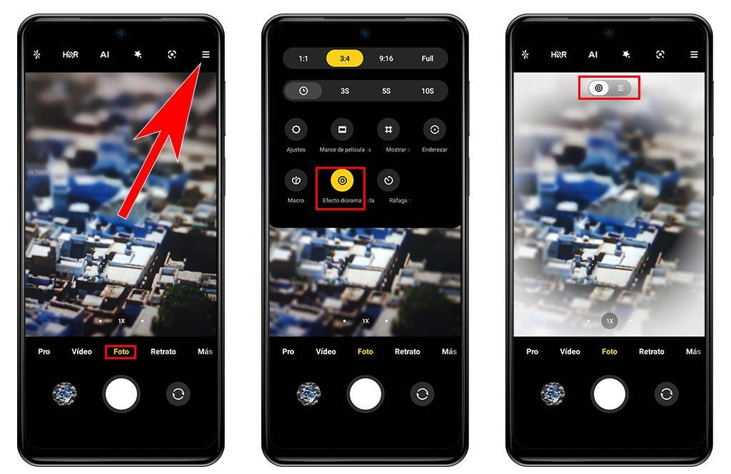 Qué es el efecto diorama y como puedes activarlo en la cámara de tu Xiaomi. Noticias Xiaomi Adictos