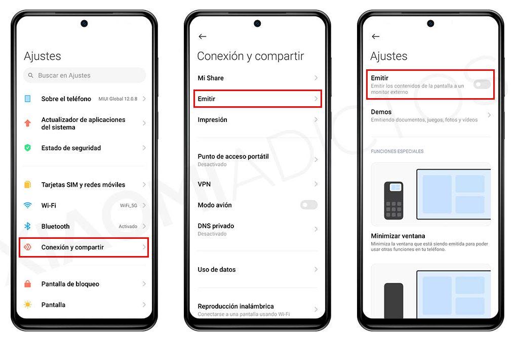 Cómo emitir o compartir la pantalla de tu Xiaomi en un televisor. Noticias Xiaomi A