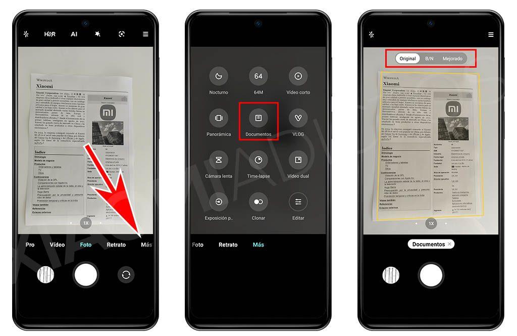 Cómo escanear y digitalizar documentos con la propia cámara de tu Xiaomi. Noticias Xiaomi Adictos