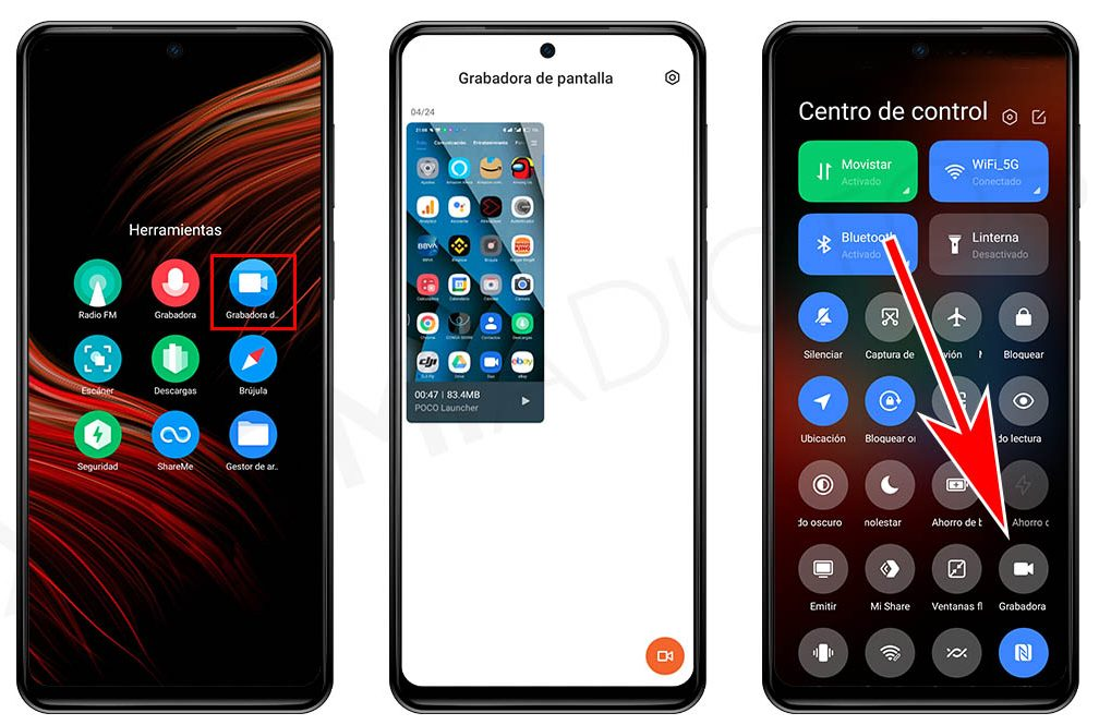 Cómo grabar la pantalla de tu Xiaomi sin utilizar aplicaciones de terceros. Noticias Xiaomi Adictos