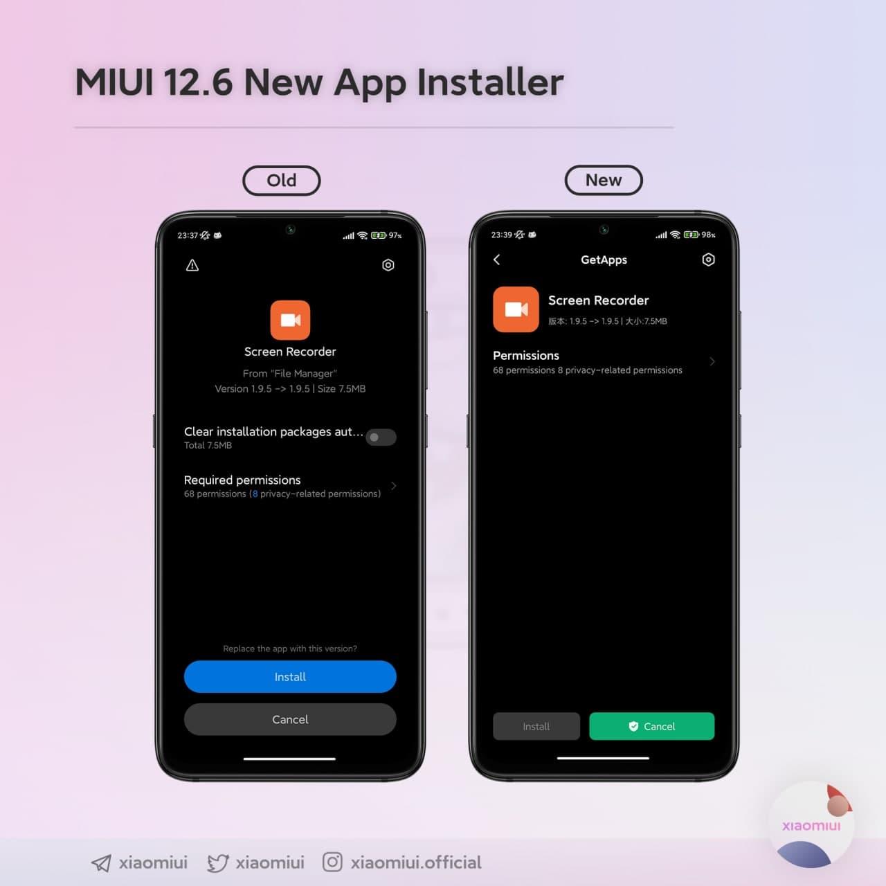 Xiaomi mejora el instalador de aplicaciones de MIUI y renueva su interfaz. Noticias Xiaomi Adictos