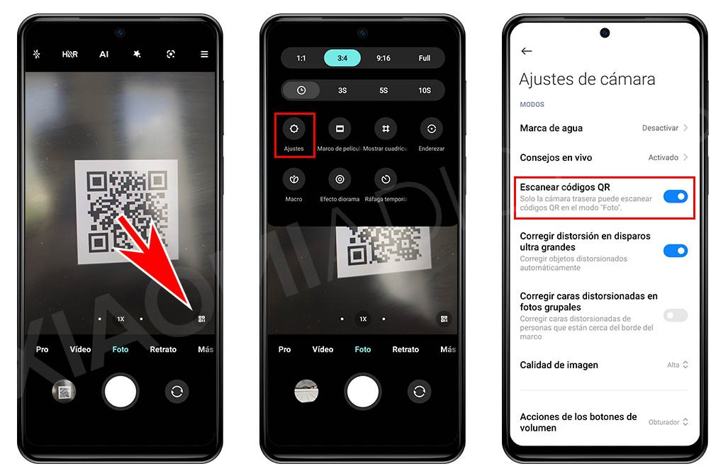 Cómo leer códigos QR con la cámara de tu Xiaomi sin tener que usar otras aplicaciones. Noticias Xiaomi Adictos