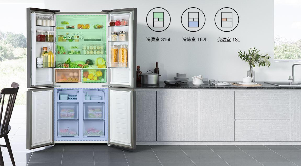 Xiaomi lanza un nuevo y amplio frigorífico con cuatro puertas independientes. Noticias Xiaomi Adictos