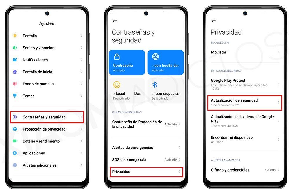 Cómo saber cual es el último parche de seguridad que tiene tu Xiaomi Noticias Xiaomi Adictos