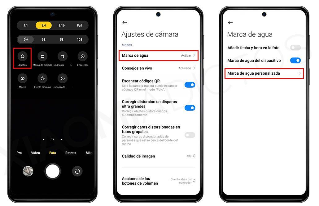 Cómo personalizar la marca de agua de las fotos de tu Xiaomi. Noticias Xiaomi Adictos