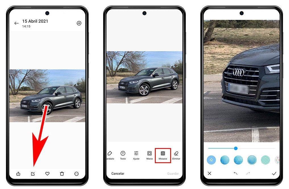 Cómo difuminar o pixelar partes de una fotografía con tu Xiaomi: rostros, matrículas, etc.. Noticias Xiaomi Adictos