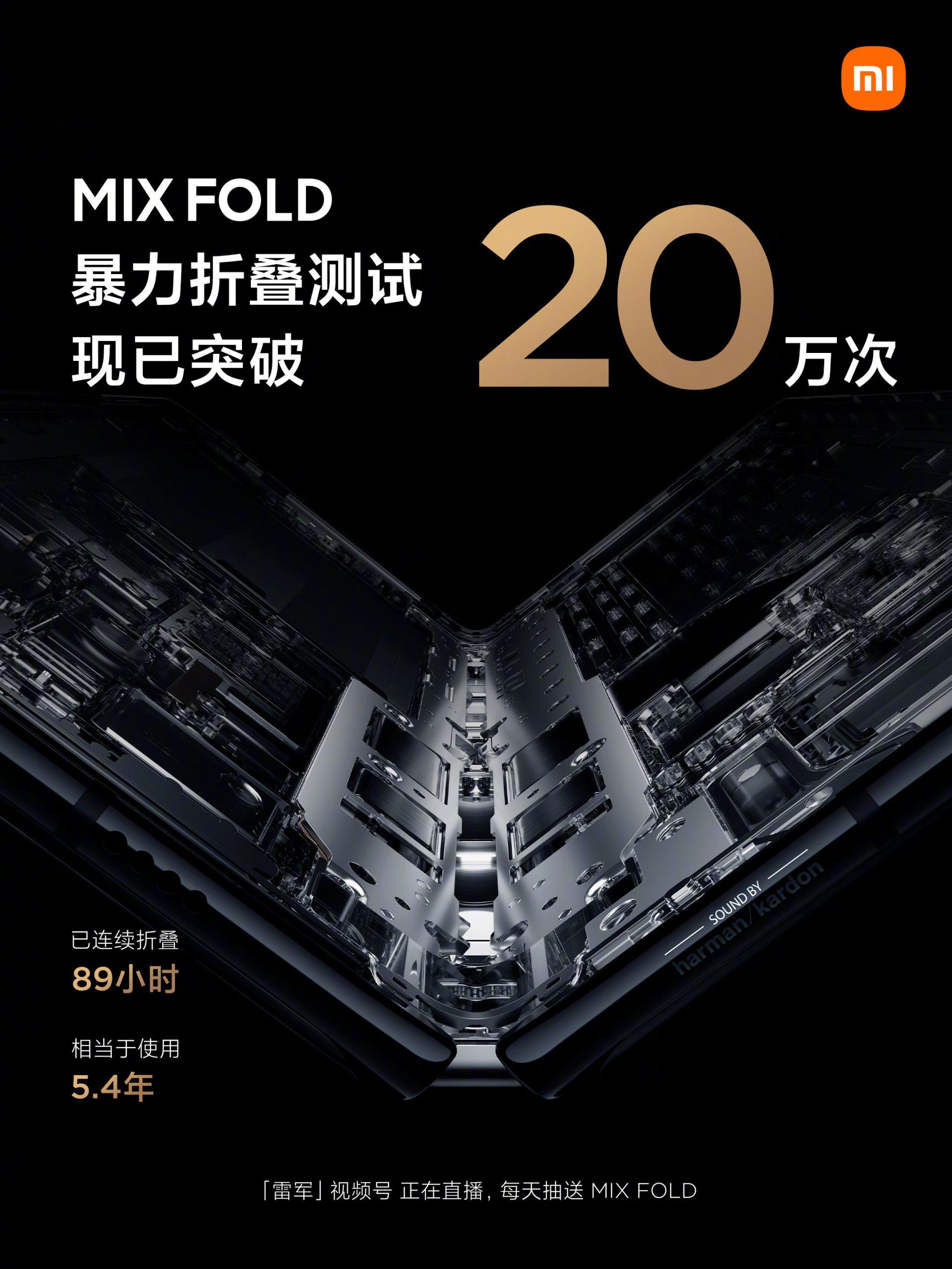 El Xiaomi Mi Mix Fold ha sido capaz de resistir 200.000 aperturas sin presentar daños. Noticias Xiaomi Adictos