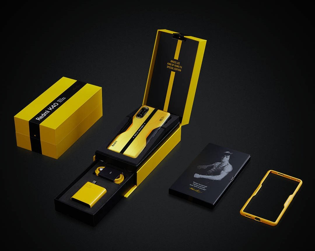 """This is the """"Bruce Lee Edition"""" of the new Redmi K40 Gaming Edition"""