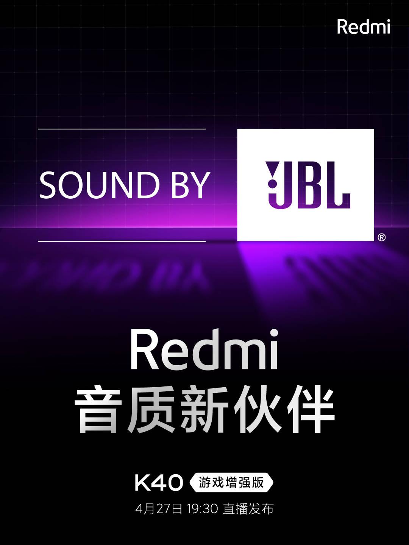 El Redmi K40 Gaming Edition contará con altavoces y tecnología de audio JBL . Noticias Xiaomi Adictos