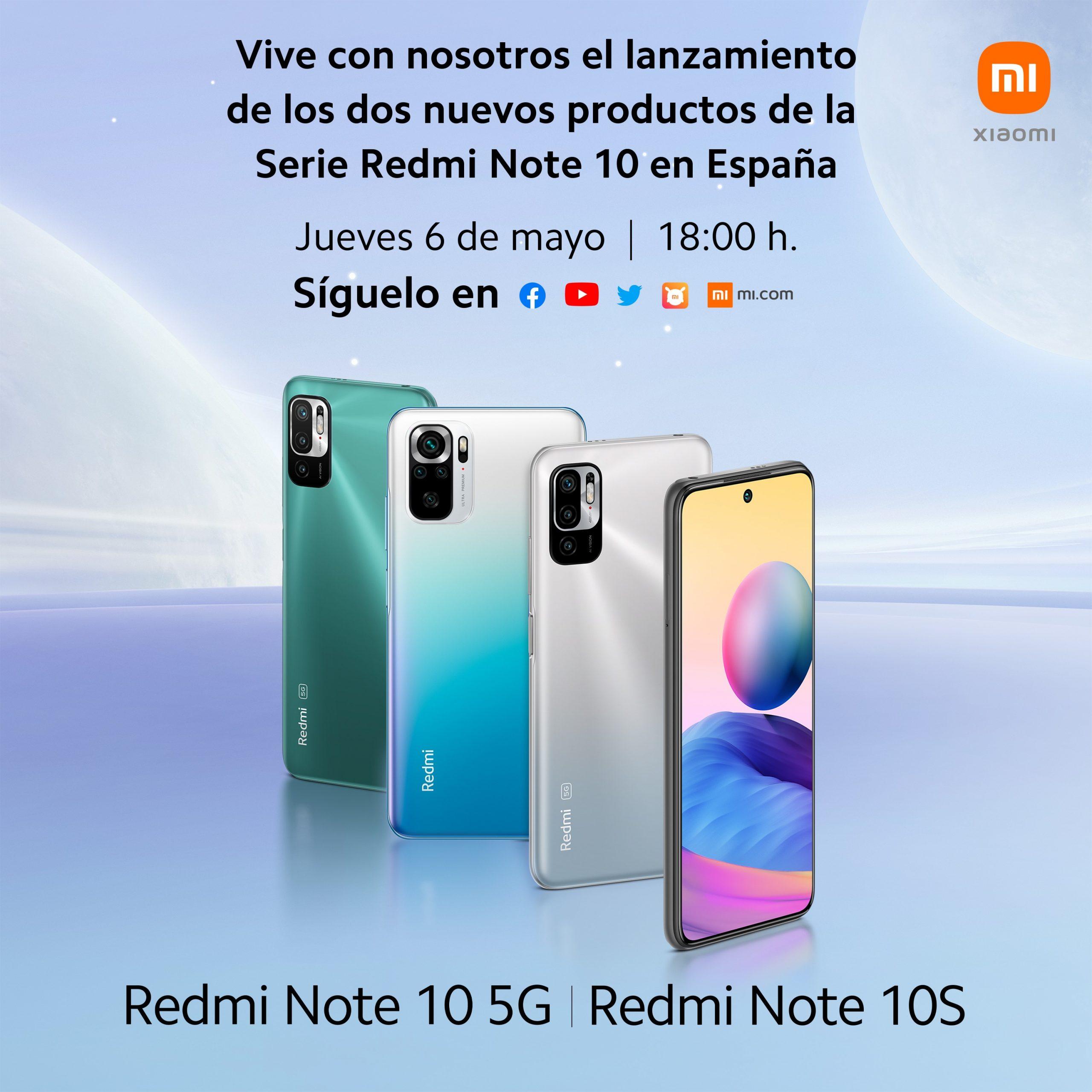Los Redmi Note 10 5G y Note 10S llegarán a España oficialmente el 6 de mayo. Noticias Xiaomi A