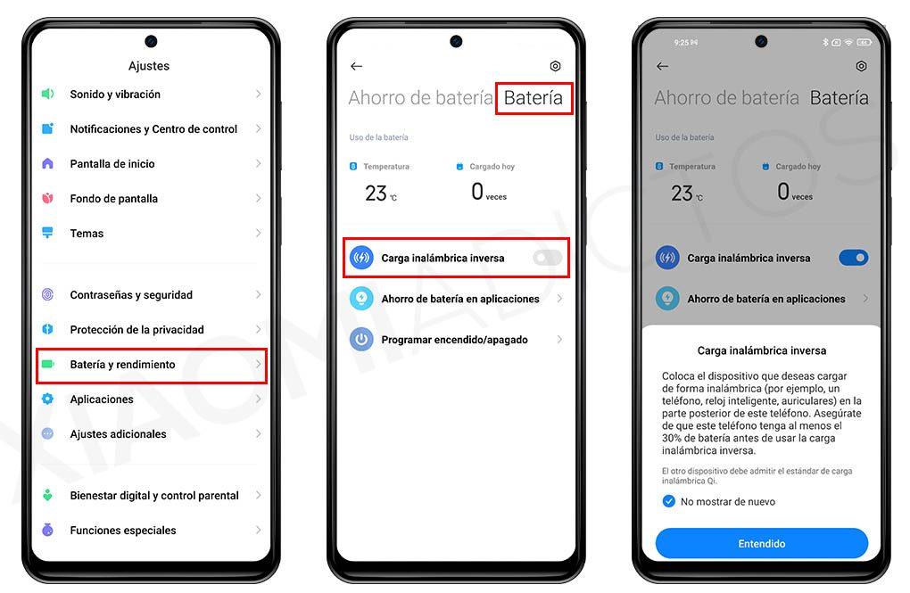 Cómo activar la carga inalámbrica inversa en tu Xiaomi: modelos compatibles. Noticias Xiaomi Adictos