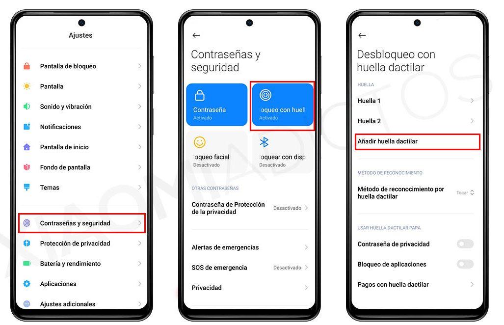 Cómo añadir nuevas huellas dactilares para el desbloqueo de tu Xiaomi. Noticias Xiaomi Adictos