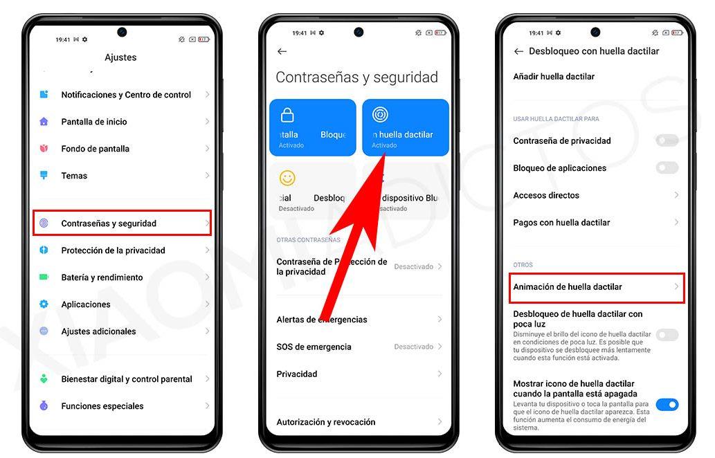 Cómo cambiar el diseño de la animación del lector de huellas de tu Xiaomi. Noticias Xiaomi Adictos