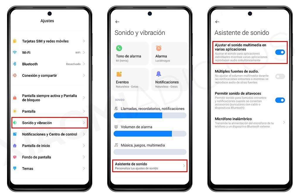 Cómo controlar por separado el volumen de las aplicaciones en tu Xiaomi. Noticias Xiaomi Adictos