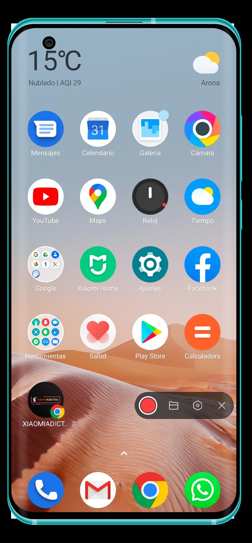 Xiaomi mejora la grabadora de pantalla de MIUI con nuevos accesos directos. Noticias Xiaomi Adictos