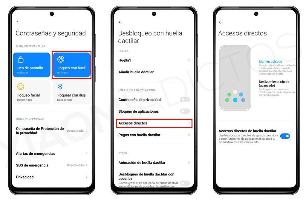 Sácale mayor partido al lector de huellas de tu Xiaomi usando los accesos directos. Noticias Xiaomi Adictos