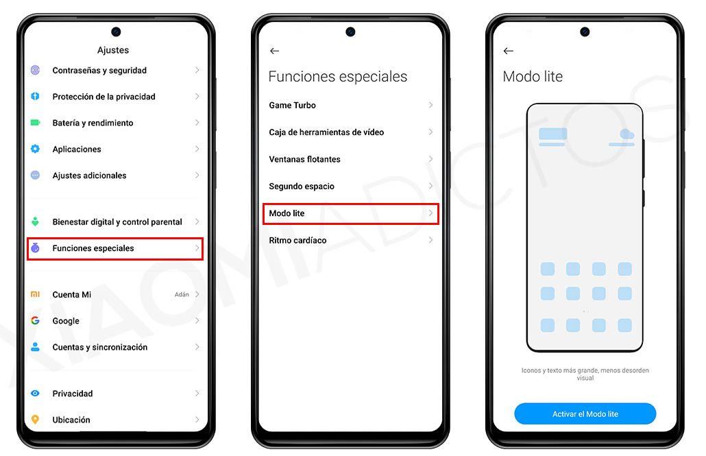 Qué es MIUI Lite y cómo puedes activarlo en tu Xiaomi. Noticias Xiaomi Adictos