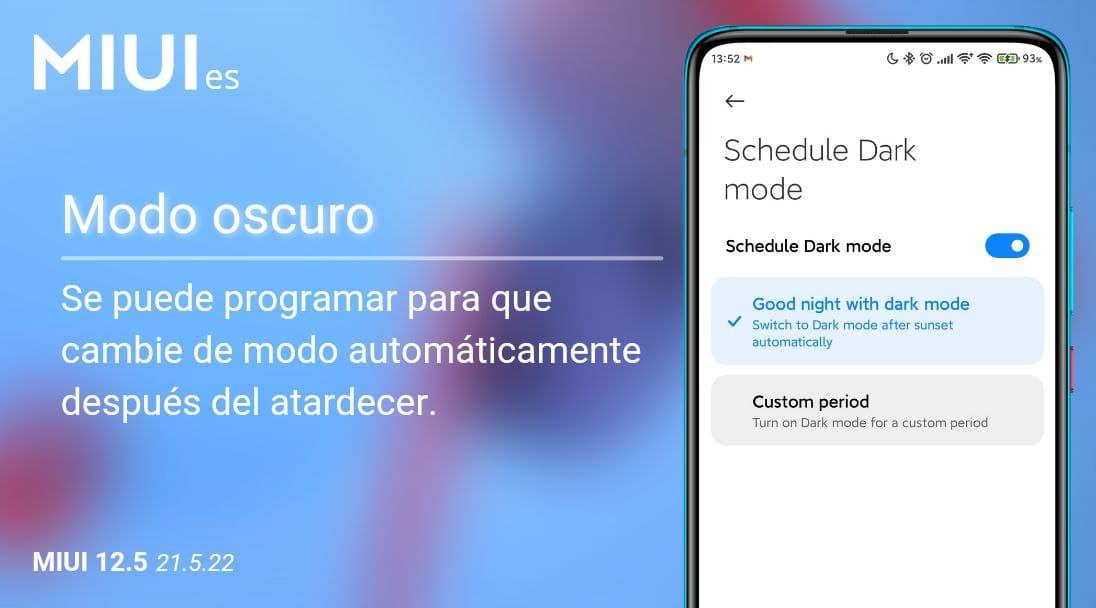 Xiaomi mejora el modo oscuro de MIUI permitiendo que se active solo al atardecer. Noticias Xiaomi Adictos